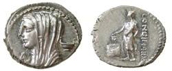 Ancient Coins - L. Cassius Longinus. 60 BC. Denarius.