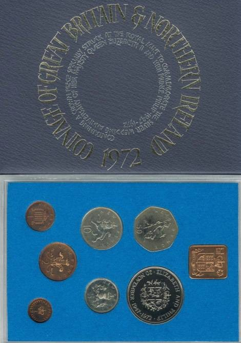 World Coins - 1972 Coinage of Great Britain & Northern Ireland Proof Set