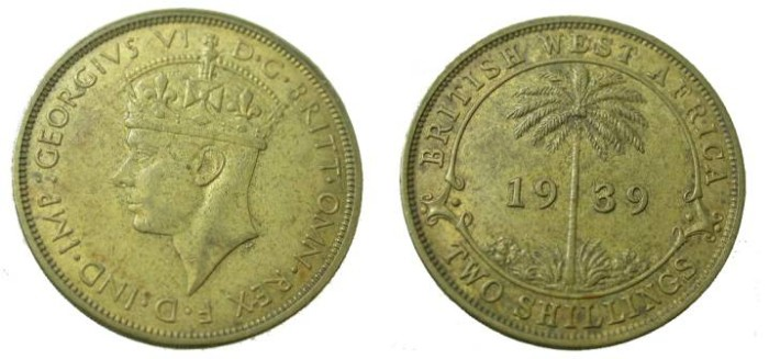 World Coins - 1939H  Nigeria George VI Two Shillings