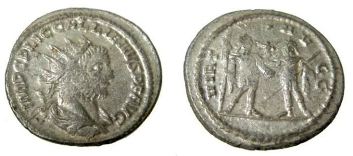 Ancient Coins - Gallienus 255-256 AD AR Antoninianus