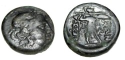 Ancient Coins - Thessalian league AE 22 196-146 BC S-2237