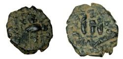 Ancient Coins - Constans II 641-668AD AE Follis S-1000