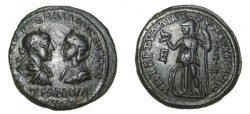 Ancient Coins - Gordian & Tranquillina 238 - 244 AD Marcianopolis Moesia Inferior AE27