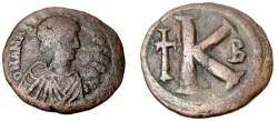 Ancient Coins - Anastasius 491-518AD AE 1/2 Follis Constantinople S-25