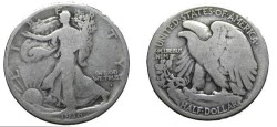 Us Coins - 1916-D Walking Liberty Half Dollar VG8