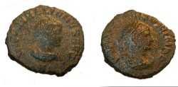 Ancient Coins - Vabalathus & Aurelian 271-273 AD RIC Vv 381 Cohen 1