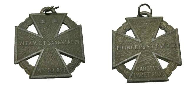 World Coins - Austro - Hungary 1916 WWI Troop Cross