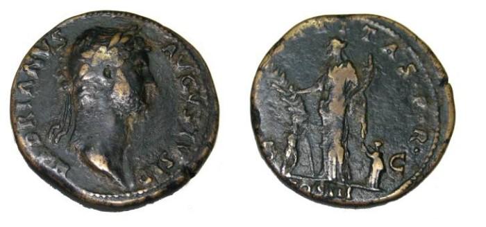 Ancient Coins - Hadrian 117-13 AD AE Sestertius