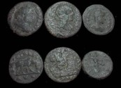 Ancient Coins - Traos Alexandria AE's 3 Assorted 3rd Century AD