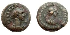 Ancient Coins - Roman Egypt Alexandria Aurelian with Vabalathus 270-275 AD AE Tetradrachm