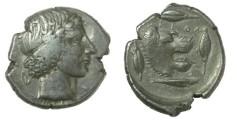 Ancient Coins - Sicily, Leontini. AR Tetradrachm Circa 425 BC
