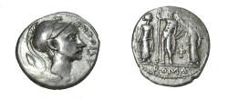 Ancient Coins - Cornelius Blasio 112/111BC AR Denarius CRI 173