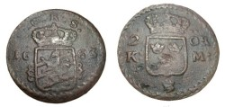 World Coins - Sweden Karl XI 1660-1697 2 Ore S.M. 1663
