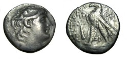 Ancient Coins - Kings of Syria Seleukid VII 138-129BC AR Drachm Tyre 183-129BC