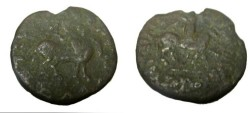 Ancient Coins - Indo Skythian Azes I 57-35BC AE 8 Chalkon 15.8g