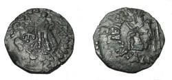 Ancient Coins - Indo-Skythian Azes II Ca 35 BC- 5 AD  AE Penta Chalkon Taxila M-2321 S!