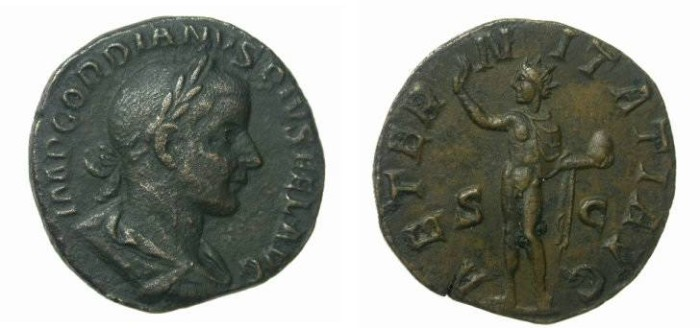 Ancient Coins - Gordian III 238 – 244 AD AE Sesterius