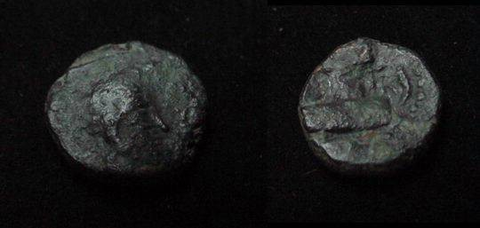 Ancient Coins - The Kushan Shaws Hormazd  CA 271-356 AD AE 15 M 1284-86