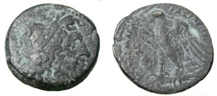 Ancient Coins - Ptolemy II Philadelphos 285-246BC AE 28 BMC 6.25 15-16, Sov 576 S-7779