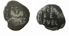 Ancient Coins - Justin II 565-578AD  AR 1/2 Siliqua