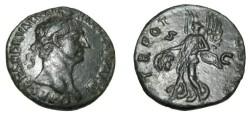 Ancient Coins - Trajan Ae As Victory walking BMC 727; Cohen 617