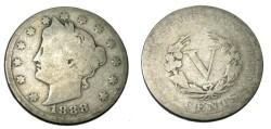 Us Coins - 1888 V Nickle G
