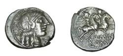 Ancient Coins - Q. MINUCIUS RUFUS 122BC AR Denarius