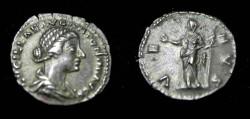 Ancient Coins - Lucilla Wife of L Verus 182AD AR Denarie Rv Vota Pvplica