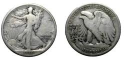 Us Coins - 1916-D Walking Liberty Half Dollar VG/F
