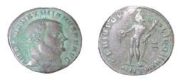 Ancient Coins - Maximianus  286-305  AD   AE Follis 10.13 gm Head R. Genius Stdg L