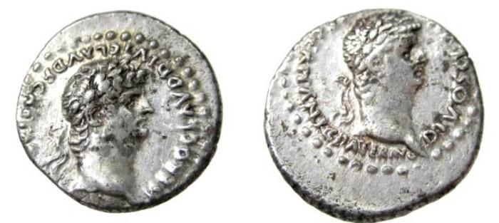 Ancient Coins - Cappadocia, Caesarea. Nero, with Divus Claudius.