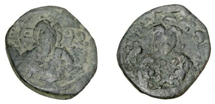 Ancient Coins - Constantine X 1059-1067AD Constantinople AE Follis