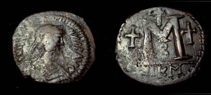 Ancient Coins - Justin I & Justinian I, AE Follis