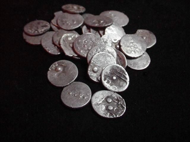 Ancient Coins - India - Agupta Fractional Drachm