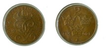 World Coins - Sweden 2 Ore 1934 KM#778 unc