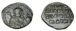 Ancient Coins - Constantine VII & Romanus I 950-944AD Constantinople AE Follis