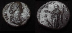 Ancient Coins - Faustina Jr AE As Wife of Marcus Aurelius