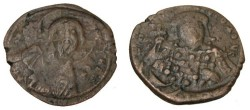 Ancient Coins - Constantine X 1059-1067AD Constantinople AE Follis