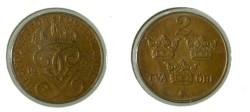 World Coins - Sweden 2 Ore 1934 KM#778 unc