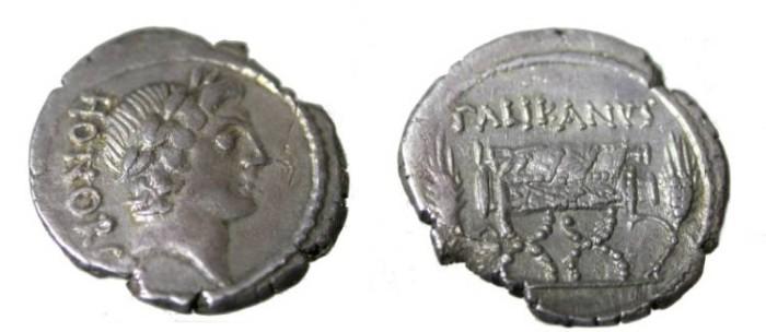 Ancient Coins - Lollius Palicanus 45 BC Lolia-1