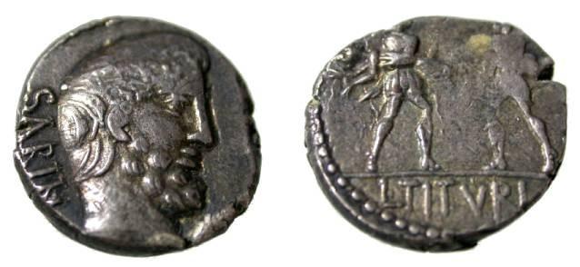 Ancient Coins - Roman Republic L. T. Turius Sabinus 88BC