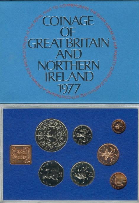 World Coins - 1977 Coinage of Great Britain & Northern Ireland Proof Set
