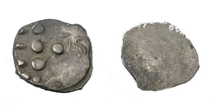 Ancient Coins - INDIA LATE GUPTA MALWA CIRCA 500 AD FRACTIONAL AR ½ DRACHM COIN