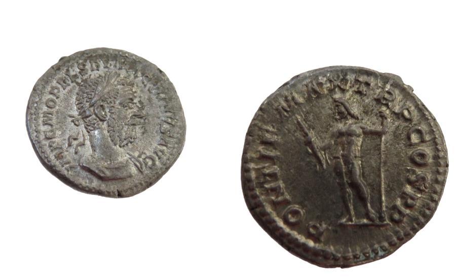 Ancient Coins - Macrinus Imperator 217-218 AD  AR Denarius