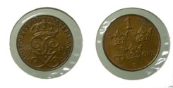 World Coins - Sweden 1 Ore 1927 KM# 777.2