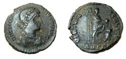 Ancient Coins - Valentinianus AE2 384-408 AD Virtus Exerciti RIC 63a