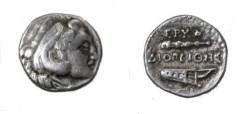 Ancient Coins - Greece Ionia Erythrai, AR Hemidrachm Diogenes