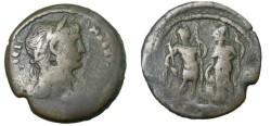 Ancient Coins - Hadrian Roman Egypt AE Drachm Arees Stdg R Holding Spear & Parazonium