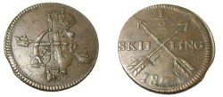World Coins - 1802 struck over 1 Ore 176(-)