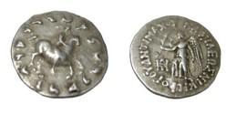 Ancient Coins - Bactria  Antimachos Ca 171-160 BC AR Drachm S# 7546